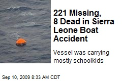 221 Missing, 8 Dead in Sierra Leone Boat Accident