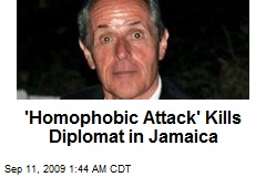 'Homophobic Attack' Kills Diplomat in Jamaica