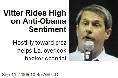 Vitter Rides High on Anti-Obama Sentiment