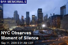 NYC Observes Moment of Silence
