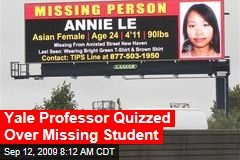 Yale Professor Quizzed Over Missing Student
