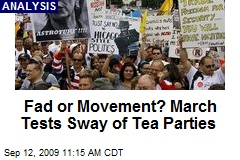 Fad or Movement? March Tests Sway of Tea Parties