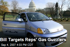 Bill Targets Reps' Gas Guzzlers