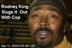 Rodney King Slugs it Out With Cop