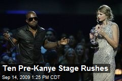 Ten Pre-Kanye Stage Rushes