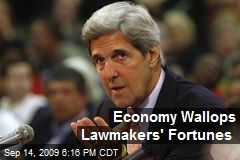 Economy Wallops Lawmakers' Fortunes