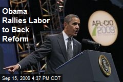Obama Rallies Labor to Back Reform