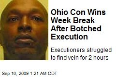 Ohio Con Wins Week Break After Botched Execution