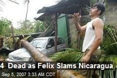4 Dead as Felix Slams Nicaragua