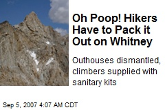 Oh Poop! Hikers Have to Pack it Out on Whitney