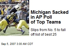 Michigan Sacked in AP Poll of Top Teams