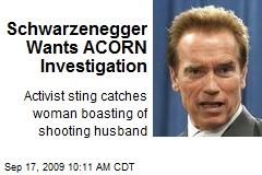 Schwarzenegger Wants ACORN Investigation