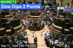 Dow Dips 2 Points
