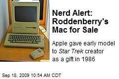 Nerd Alert: Roddenberry's Mac for Sale