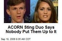 ACORN Sting Duo Says Nobody Put Them Up to It