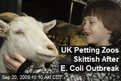 UK Petting Zoos Skittish After E. Coli Outbreak