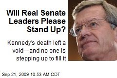 Will Real Senate Leaders Please Stand Up?