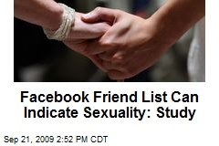 Facebook Friend List Can Indicate Sexuality: Study