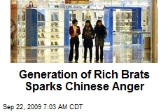 Generation of Rich Brats Sparks Chinese Anger