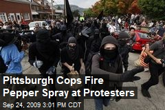 Pittsburgh Cops Fire Pepper Spray at Protesters