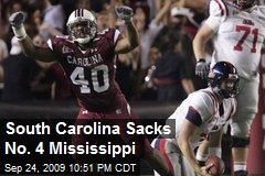 South Carolina Sacks No. 4 Mississippi
