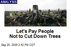 Let's Pay People Not to Cut Down Trees