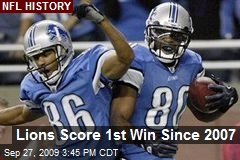 Lions Score 1st Win Since 2007