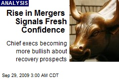 Rise in Mergers Signals Fresh Confidence