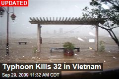 Typhoon Kills 32 in Vietnam