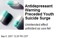 Antidepressant Warning Preceded Youth Suicide Surge