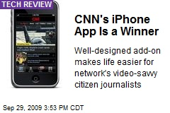 CNN's iPhone App Is a Winner