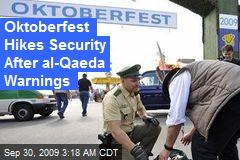 Oktoberfest Hikes Security After al-Qaeda Warnings