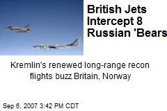 British Jets Intercept 8 Russian 'Bears'