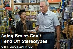 Aging Brains Can't Fend Off Stereotypes