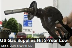 US Gas Supplies Hit 2-Year Low