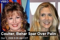 Coulter, Behar Spar Over Palin