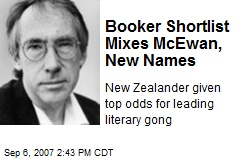 Booker Shortlist Mixes McEwan, New Names