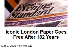 Iconic London Paper Goes Free After 182 Years