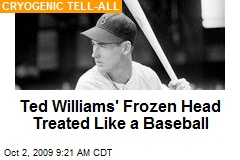 Ted Williams' Frozen Head Treated Like a Baseball