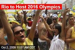 Rio to Host 2016 Olympics