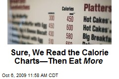 Sure, We Read the Calorie Charts—Then Eat More