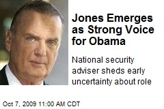 Jones Emerges as Strong Voice for Obama