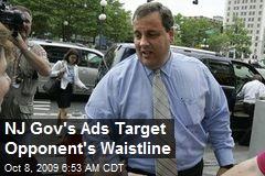 NJ Gov's Ads Target Opponent's Waistline