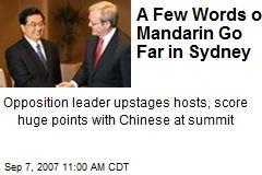 A Few Words of Mandarin Go Far in Sydney