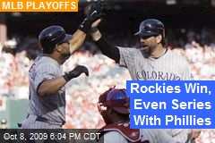 Rockies Win, Even Series With Phillies