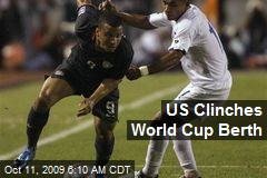 US Clinches World Cup Berth