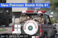 New Pakistan Bomb Kills 41