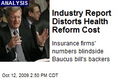 Industry Report Distorts Health Reform Cost
