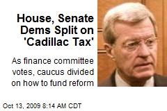 House, Senate Dems Split on 'Cadillac Tax'