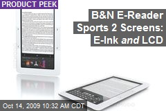B&N E-Reader Sports 2 Screens: E-Ink and LCD